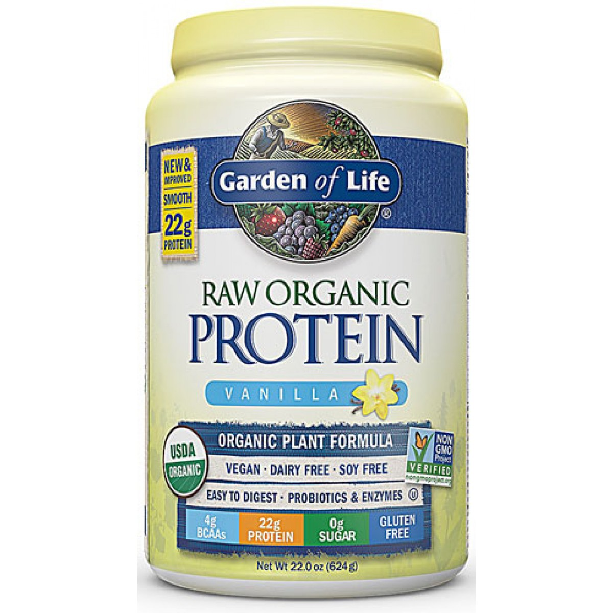 Raw Protein 22 Oz Vanilla Natures Health Shoppe