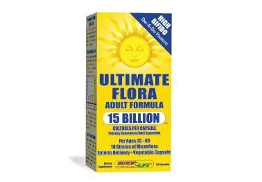 ULTIMATE FLORA ADULT 15 BILLION 30 CAPS