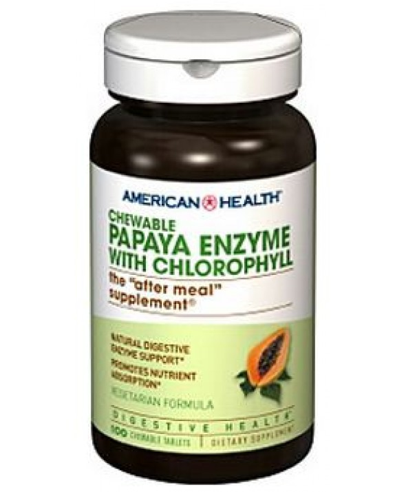 PAPAYA ENZYME WITH CHLOROPHYLL 100 TABS
