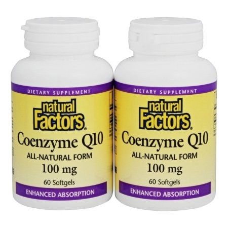 Coenzyme Q10 All Natural Form 100 mg Bonus Pack 60 + 60 softgels