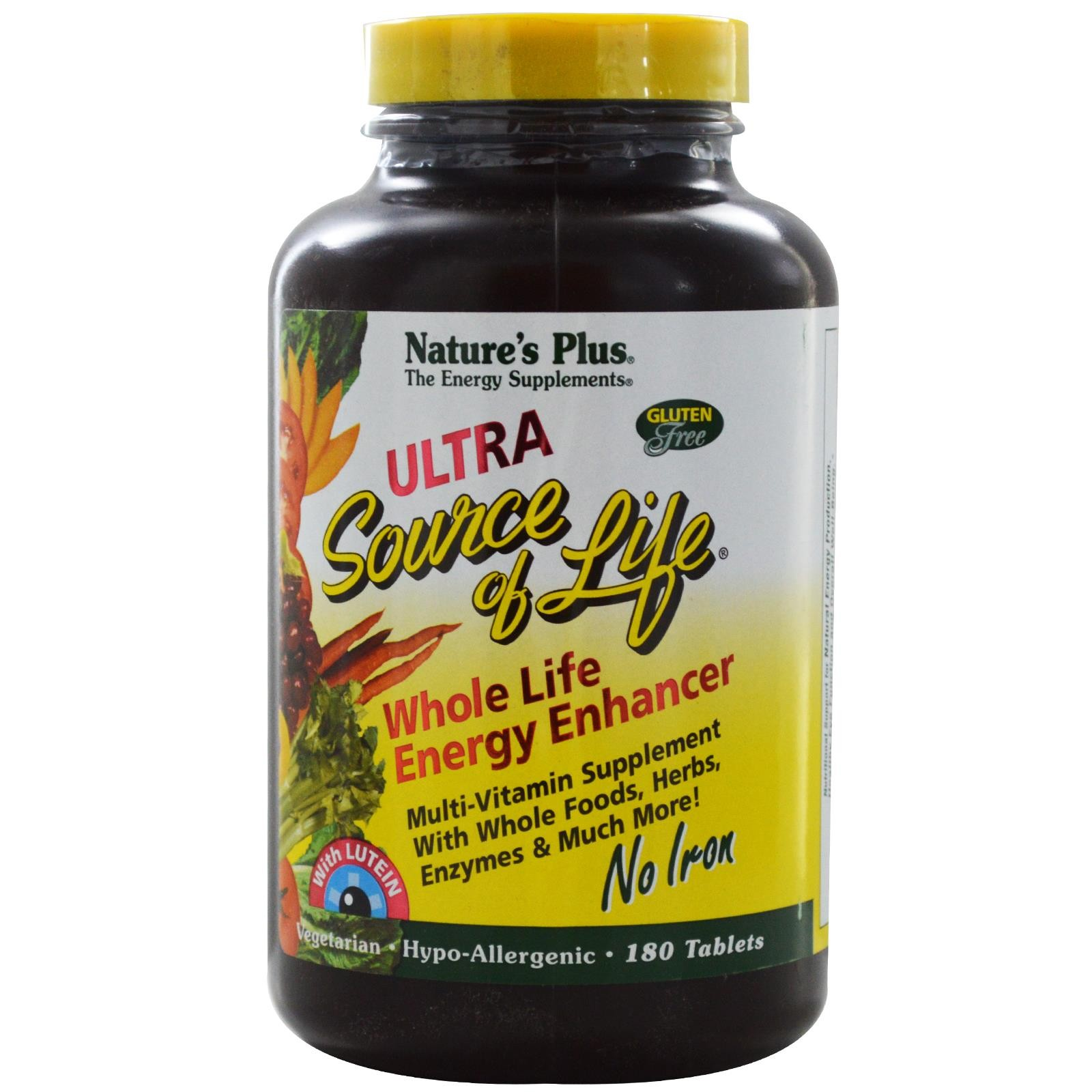 ULTRA SOURCE OF LIFE 180 TABS NO IRON