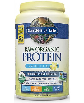GARDEN OF LIFE RAW PROTEIN 22 OZ. VANILLA