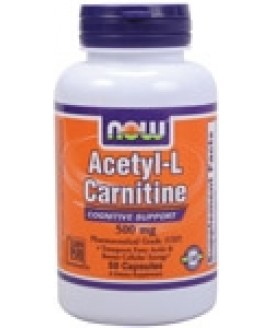 ACETYL L-CARNITINE 500 MG. 100 CAPS