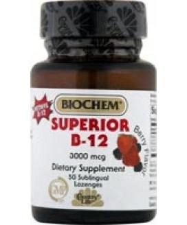 SUPERIOR B12 SUBLINGUAL 50 LOZENGES