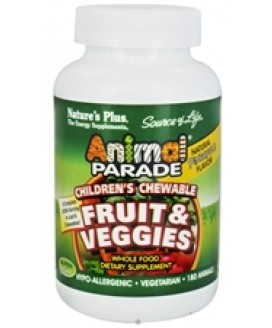 ANIMAL PARADE FRUIT&VEGGIE CHILDREN'S CHEW 180CT