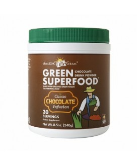 CHOCOLATE CACAO GREEN DRINK POWDER 8.5 OZ