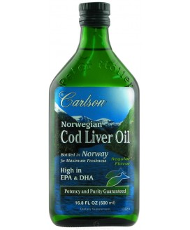 NORWEGIAN COD LIVER OIL REG FLAV 500 ml.