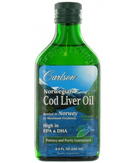 NORWEGIAN COD LIVER OIL REG FLAV 250 ML