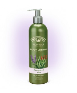 ORGANICS LAVENDER ALOE BODY LOTION 12OZ