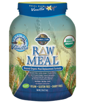 RAW ORGANIC MEAL 2.5 LB VANILLA