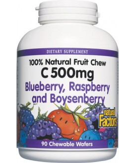 VITAMIN C 500 MG MIXED BERRY 90 WAFERS