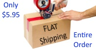$5.95 Flat rate shippings